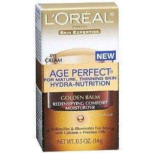 Age Perfecting Eye Balm, 0.5 Fluid Ounce by Age Perfecting. $15.99. Dermatologist and ophthalmologist testedsafe for contact lens wearers fragrance-free. Instantly brightens eye areaskin is deeply and continuously hydrated with no greasy after-feel. Within hours, skin is measurably firmer. Reduces the appearance of surface wrinkles and fine lines in just 4 weeks. Collagen provides natural support to the skin. Collagen provides natural support to the skin. With age, sun damage...