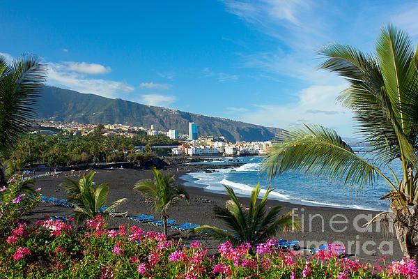 Playa Jardin,Puerto de la Cruz, Tenerife, Spain by Anastasy Yarmolovich #Tenerife #Spain #AnastasyYarmolovichFineArtPhotography  #ArtForHome
