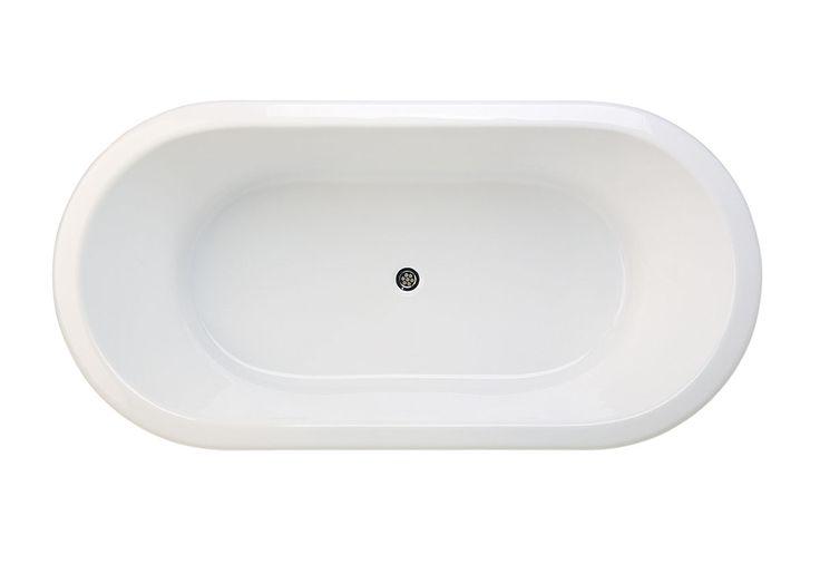 Posh Domaine Oval Bath, 1800mm. Reece $861.99 inc gst (has a normal pull plug)