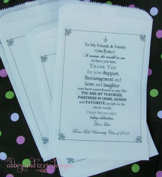 Graduation+Candy+Buffet   Graduation Party Favors, Candy Buffet Bags, Candy Bags,