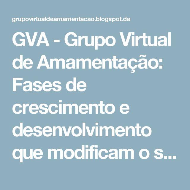 GVA - Grupo Virtual de Amamentação: Fases de crescimento e desenvolvimento que modificam o sono do bebê e da criança