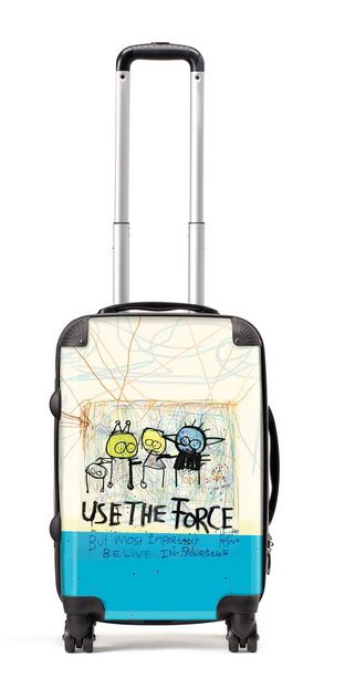 Suitcase (56cm) use the force - more information http://poulpavashop.com/suitcases/use-the-force-klein-56-cm.html