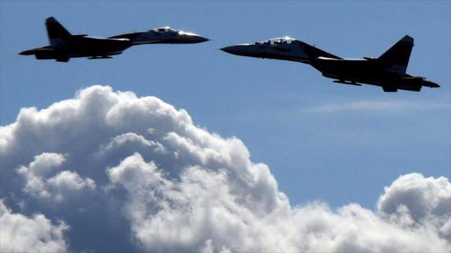 Cazas de la OTAN escoltan dos aviones militares de Rusia que sobrevolaban aguas internacionales del mar Báltico.