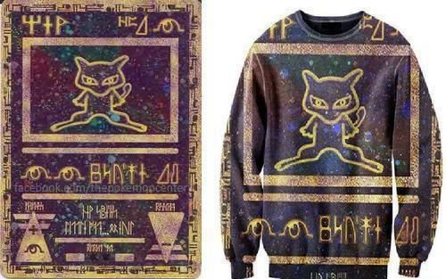Ancient Mew Pokemon card shirt