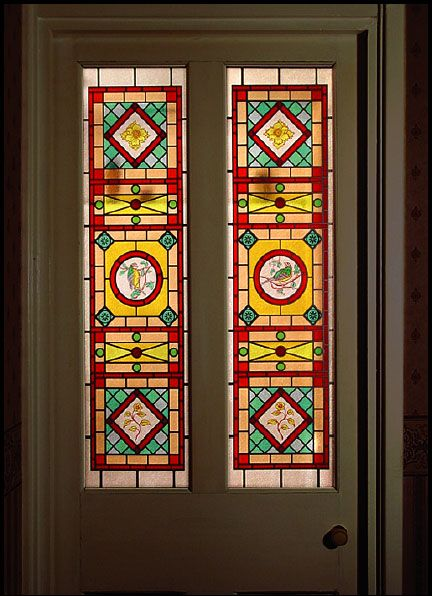 60 best stained glass door images on pinterest front for Victorian stained glass window film
