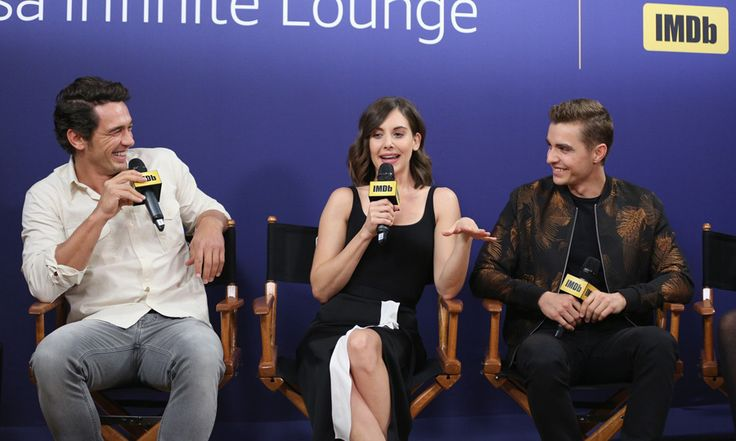 James Franco, Dave Franco and new wife Allison Brie were one big happy family during their The Disaster Artist panel at The IMDb Studio.