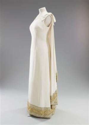 Dress Worn by Queen Elizabeth II Visiting Malta  Norman Hartnell, 1967 by gladys