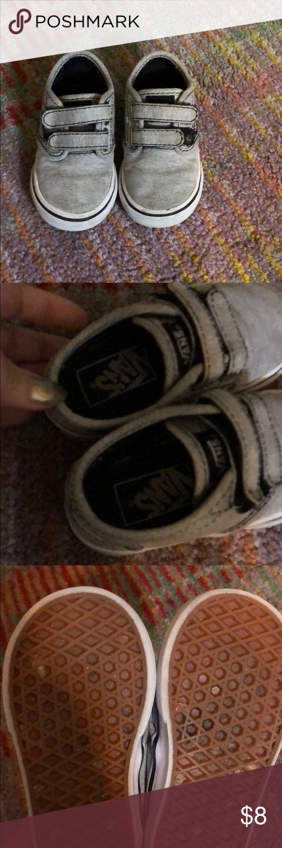 *SALE* 3 for $15 - vans toddler shoes sz 4.5 Gently used light gray vans toddler shoes size 4.5 Vans Shoes Sneakers