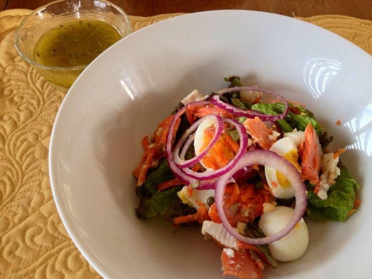 "Greek salad dressing (from ""Make It Paleo"") using juice of 1 lemon ..."
