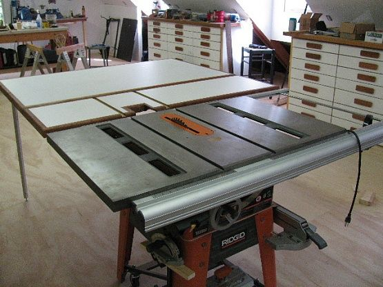 Outfeed Table For Ridgid Ts3650 Or Ts3660 Workshop Tablesaw Pinterest Tables