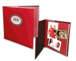 """Sorority Scrapbook Kit from Greekgear.com These Sorority Scrap books are 12"""" x 12"""" and each Scrapbook has 10 double sided top loading pages to hold 20 layouts"""