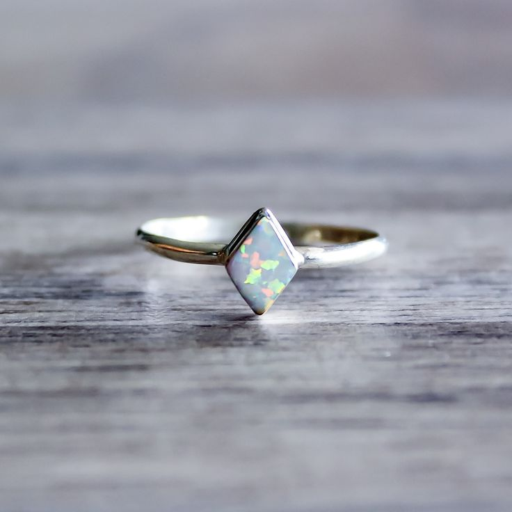 Diamond Shape Navajo Opal Ring