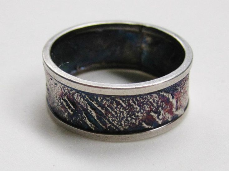 Solder Inlay Band.  Sterling Silver