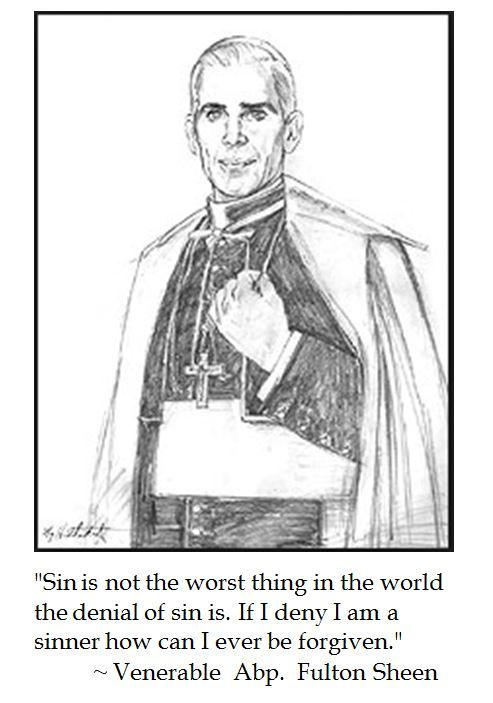 Fulton Sheen on the denial of sin