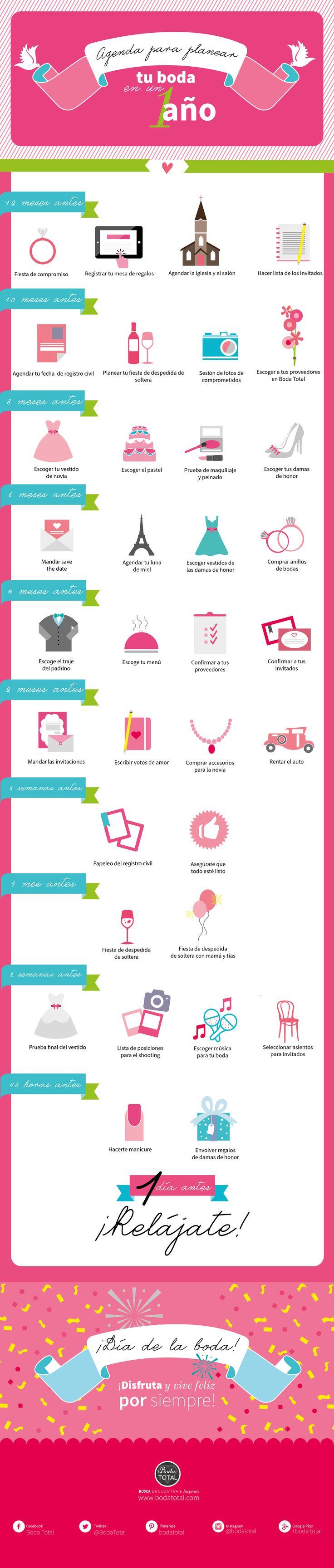¿Ya te vas a casar? Planea tu boda en un año con estos sencillos pasos #BodaTota