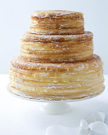 A tall, tiered crepe cake. Get the how-to here: http://www.marthastewartweddings.com/230926/light-and-frothy-cakes#103338