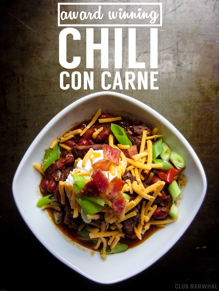 AWARD WINNING CHILI CON CARNE | PERFECT FOR SUPER BOWL SUNDAY - Club Narwhal