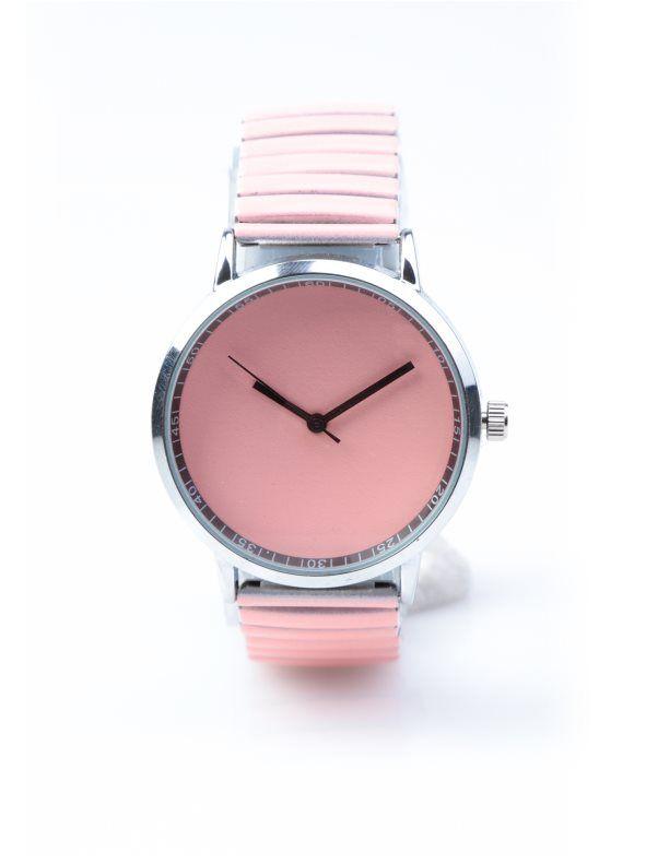 Reloj mujer coral con correa metálica elástica