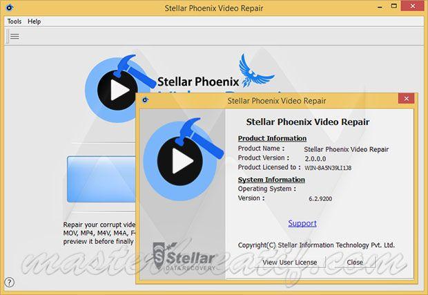 stellar phoenix video repair activation key