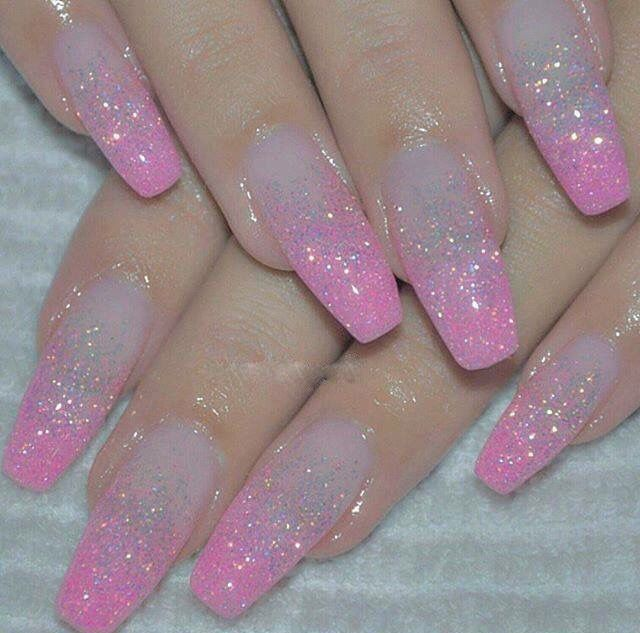 17 best ideas about pink glitter nails on pinterest