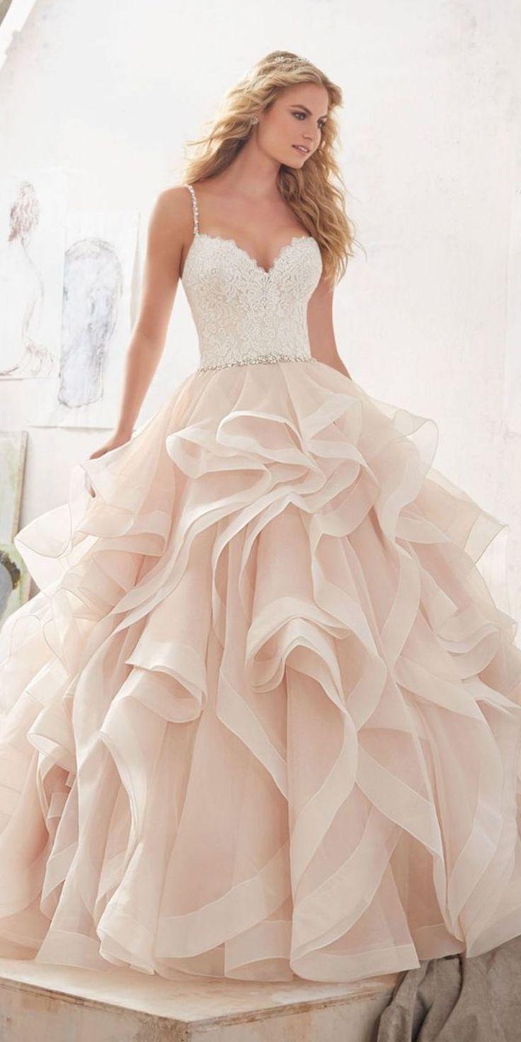 Schöne Pfirsich und Blush 38 Brautkleider zu sehen