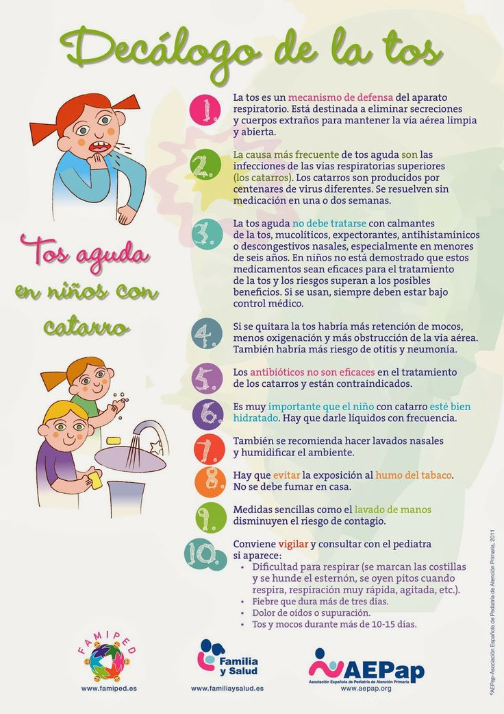 Decálogo de la tos en niños