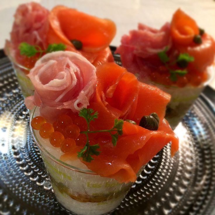 志野's dish photo 時短でお も て な し                                     クリアカップでチラシ寿司 | http://snapdish.co #SnapDish #レシピ #お誕生日 #お刺身/マリネ #おつまみ #どんぶり