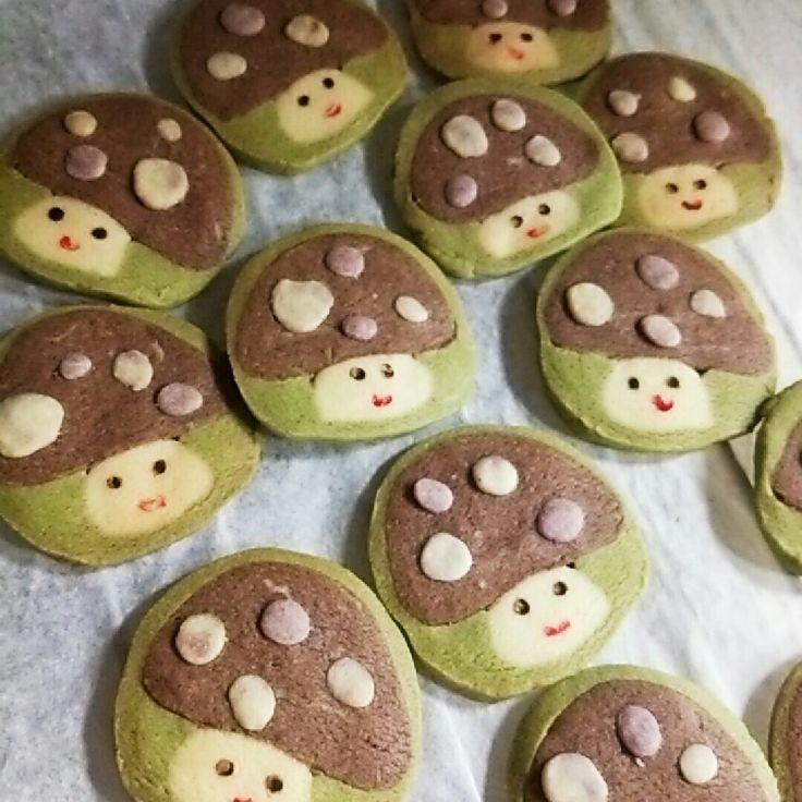 アイスボックスクッキー♪きのこちゃん by ゆっきーず [クックパッド] 簡単おいしいみんなのレシピが233万品