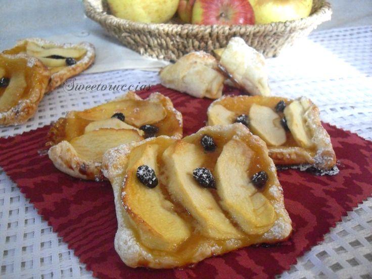 Crostatine di sfoglia alle mele