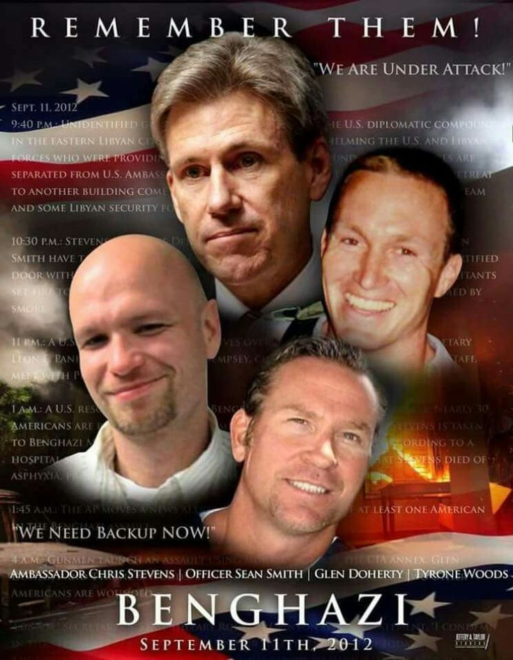 Remembering Ambassador Chris Stevens , Officer Sean Smith , Glen Doherty and Tyrone Woods who lost their lives in a terrorist act in Benghazi on 9/11/2012 . My heart , my thoughts and  my prayers go out to their families and friends... never forget !!!