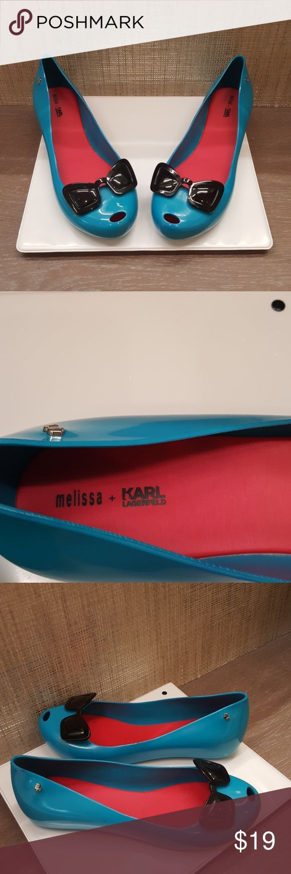 Karl Lagerfeld Melissa funky sunglasses shoes Plastic design Worn twice You can wear them at the beach and you can wear them in the rain Karl Lagerfeld Shoes Flats & Loafers