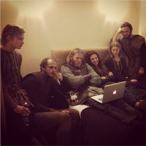 The Vikings cast being adorable.