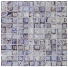 a hint of purple.... Clear Glass Mosaic Tile Stained Purple 12x12 for Kitchen backsplash.
