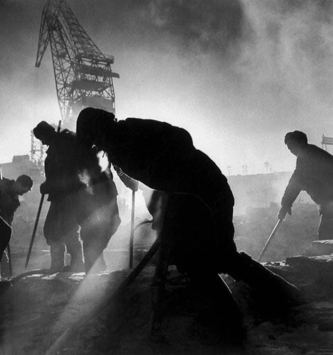 Workers at Sunrise, 1930 by Max Alpert