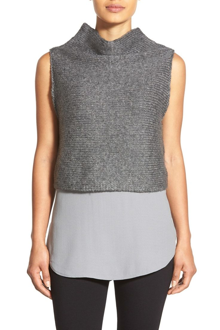 Funnel Neck Sleeveless Merino Crop Top by Eileen Fisher on @nordstrom_rack