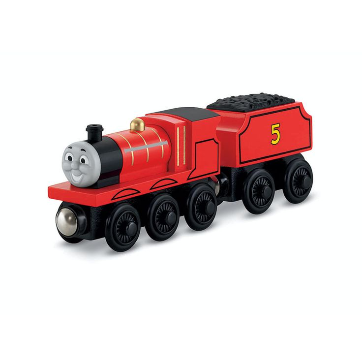 Thomas & Friends Wooden Railway Large Engine - James | ToysRUs BabiesRUs