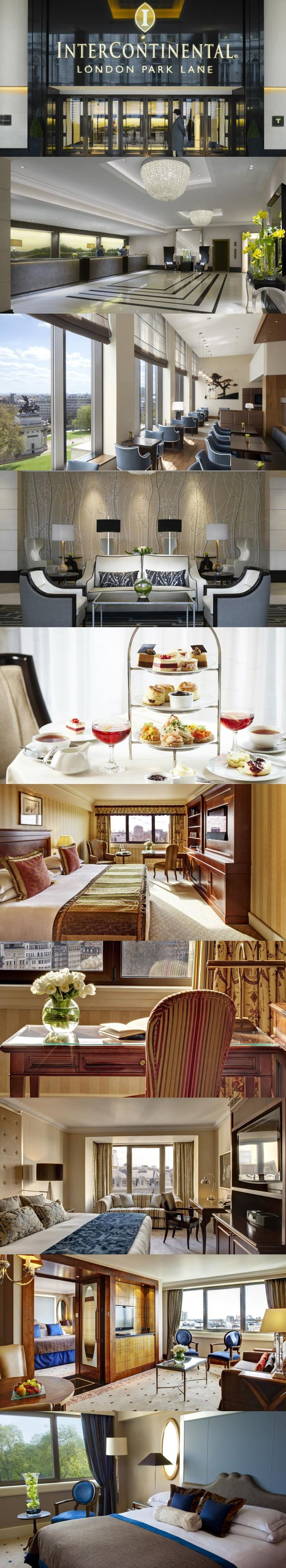 InterContinental London Park Lane. This elegant, 5-star hotel is located between Mayfair and Knightsbridge. Its luxurious rooms feature large LCD TVs and Bose sound systems, while its gourmet restaurant serves seasonal cuisine. #London