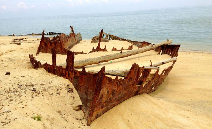 Shipwreck at Bangka Island, Indonesia