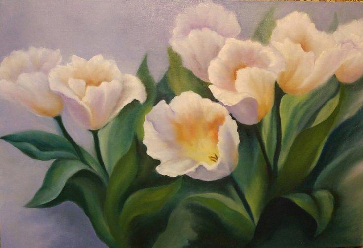 Купить Картина маслом на холсте - Тюльпаны. Cделать на заказ. Магазин рукоделия Крафтбург   арт.:3623
