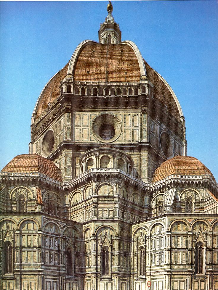 Iglesia de Santa María del Fiore (cúpula, vista exterior).  Florencia. Bruneleschi