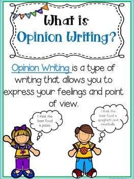 This Opinion Writing pack is great for first and second grade students.  A great introduction pack to Opinion Writing!