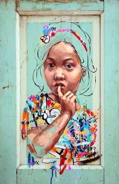 Art em grafite posted on FB