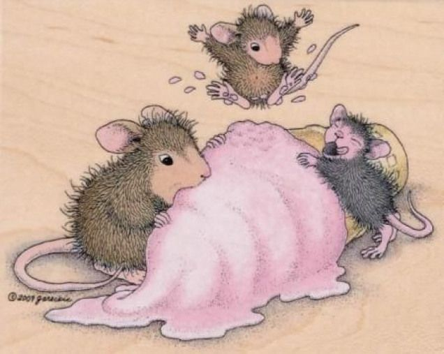 House Mouse Mice Scream For Ice Cream Stitching Stitching