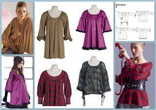 Patrón de Costura GRATIS para túnicas Varios modelos con un solo molde | EL BAÚL DE LAS COSTURERAS