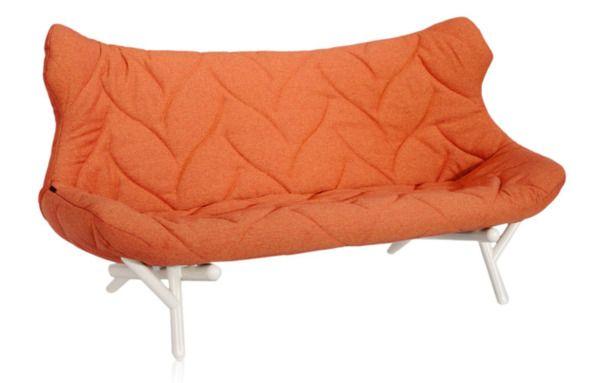 Метки: Маленькие диваны.              Материал: Металл, Ткань.              Бренд: Kartell.              Стили: Лофт, Скандинавский и минимализм.              Цвета: Оранжевый.