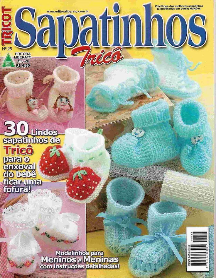 Revista TRICOT Sapatinhos Tricô-Revista Online - Receita Tricô Fácil