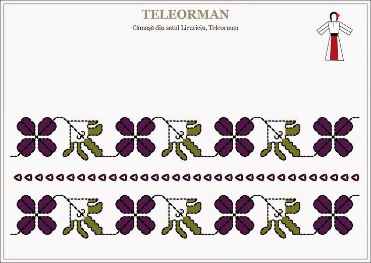 Semne Cusute: camasa traditionala - MUNTENIA, Teleorman