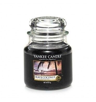 Yankee Candle ŚWIECA W SŁOIKU SREDNIA Black Coconut | DOMOWE SPA \ świeczki zapachowe \ Yankee Candle \ świece w słoikach DOMOWE SPA \ ŚWIECZKI ZAPACHOWE I WOSKI \ YANKEE CANDLE \ świece w słoikach | Minti Shop
