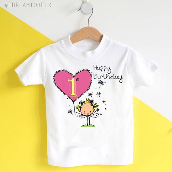 Personalised 1st first birthday baby toddler childs tshirt.