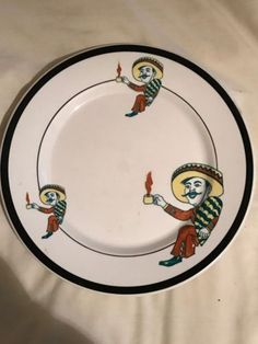 Mexican-Guy-China-Dinner-Plate-Wallace-Salesman-Sample-